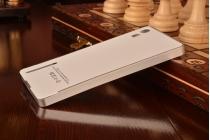 Фирменная металлическая задняя панель-крышка-накладка из тончайшего облегченного авиационного алюминия для Lenovo Vibe Shot Z90/Z90-3/Z90-7/Z90-A40/Z90A40 LTE 5.0 серебристая
