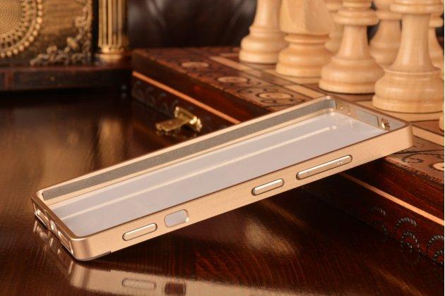 Фирменная металлическая задняя панель-крышка-накладка из тончайшего облегченного авиационного алюминия для Lenovo Vibe Shot Z90/Z90-3/Z90-7/Z90-A40/Z90A40 LTE 5.0 золотая