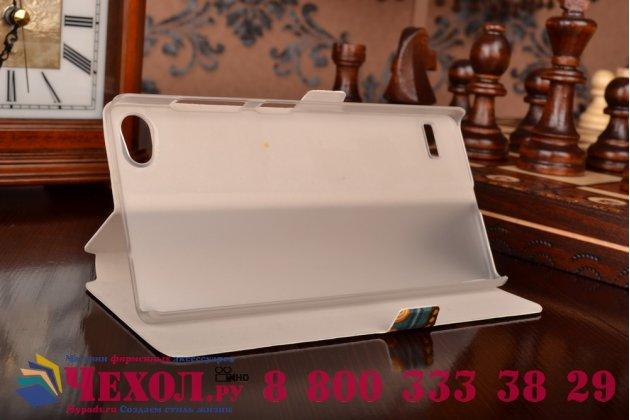 Фирменный чехол-книжка с безумно красивым расписным эклектичным узором на Lenovo Vibe X2 Pro