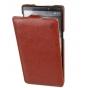 Фирменный оригинальный вертикальный откидной чехол-флип для Lenovo Vibe X2 Pro коричневый кожаный