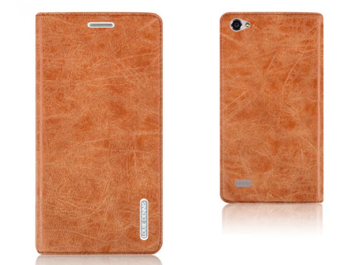 Фирменный чехол-книжка из качественной импортной кожи с мульти-подставкой застёжкой и визитницей для Lenovo VI..