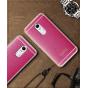 Фирменная премиальная элитная крышка-накладка на Lenovo Vibe Х3/ X3c50/ X3c70 5.5 розовая из качественного сил..
