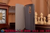 """Фирменный чехол-книжка из качественной водоотталкивающей импортной кожи на жёсткой металлической основе для Lenovo Vibe Х3/ X3c50/ X3c70 5.5"""" черный"""