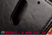 """Фирменный оригинальный вертикальный откидной чехол-флип для  Lenovo Vibe Х3/ X3c50/ X3c70 5.5"""" черный из натуральной кожи """"Prestige"""" Италия"""