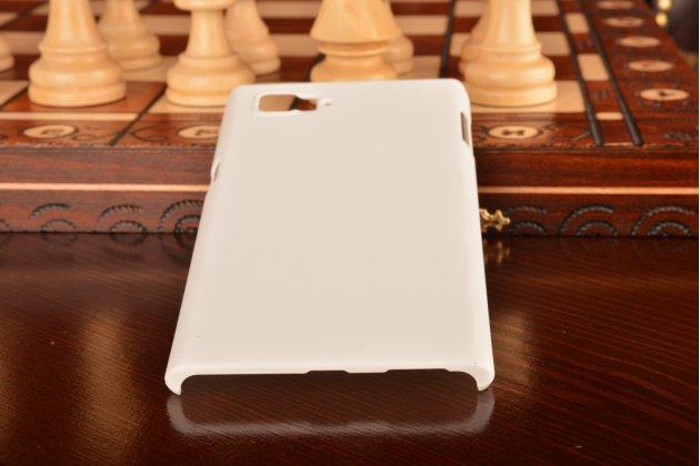 Фирменная задняя панель-крышка-накладка из тончайшего и прочного пластика для Lenovo Vibe Z2 Pro K920 белая