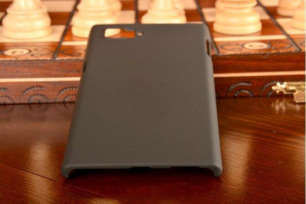 Фирменная задняя панель-крышка-накладка из тончайшего и прочного пластика для Lenovo Vibe Z2 Pro K920 черная