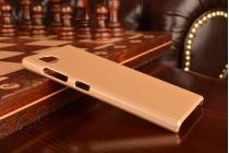 """Фирменная задняя панель-крышка-накладка из тончайшего и прочного пластика для Lenovo Vibe Z2 mini K920 5.5"""" дюймов  золотая"""