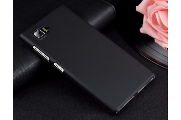 """Фирменная задняя панель-крышка-накладка из тончайшего и прочного пластика для Lenovo Vibe Z2 mini K920 5.5"""" дюймов черная"""