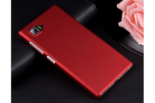 """Фирменная задняя панель-крышка-накладка из тончайшего и прочного пластика для Lenovo Vibe Z2 mini K920 5.5"""" дюймов красная"""