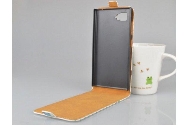 """Фирменный вертикальный откидной чехол-флип для Lenovo Vibe Z2 mini K920 5.5"""" """"тематика Сова"""""""