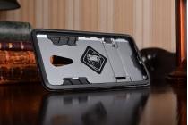 """Противоударный усиленный ударопрочный фирменный чехол-бампер-пенал для Lenovo ZUK Z2 Pro 5.2"""" серый"""