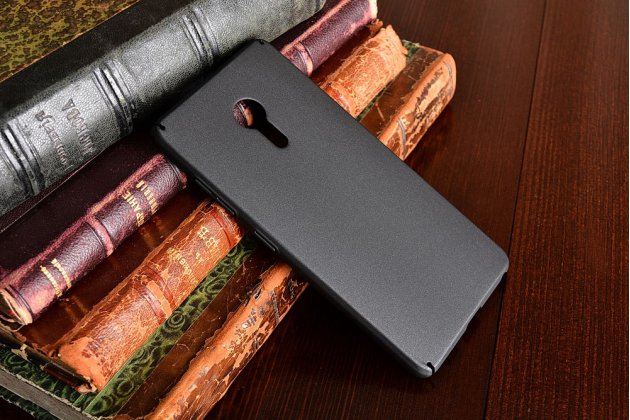 """Фирменная задняя панель-крышка-накладка из тончайшего и прочного пластика для Lenovo ZUK Z2 Pro 5.2"""" черная"""