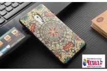 """Фирменная уникальная задняя панель-крышка-накладка из тончайшего силикона для Lenovo ZUK Z2 Pro 5.2"""" с объёмным 3D рисунком """"тематика Эклектические Узоры"""""""