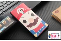 """Фирменная уникальная задняя панель-крышка-накладка из тончайшего силикона для Lenovo ZUK Z2 Pro 5.2"""" с объёмным 3D рисунком """"тематика Марио"""""""