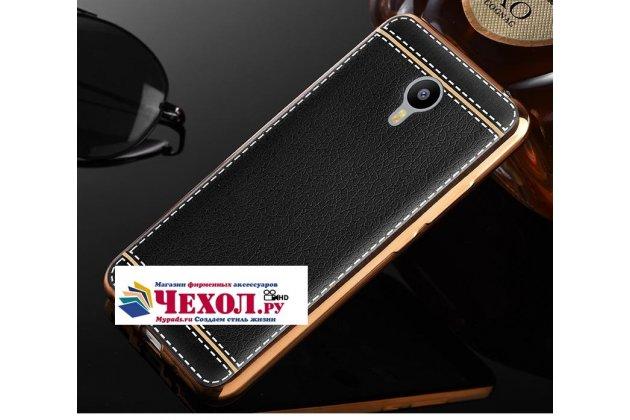Фирменная премиальная элитная крышка-накладка на Lenovo Zuk Edge черная из качественного силикона с дизайном под кожу