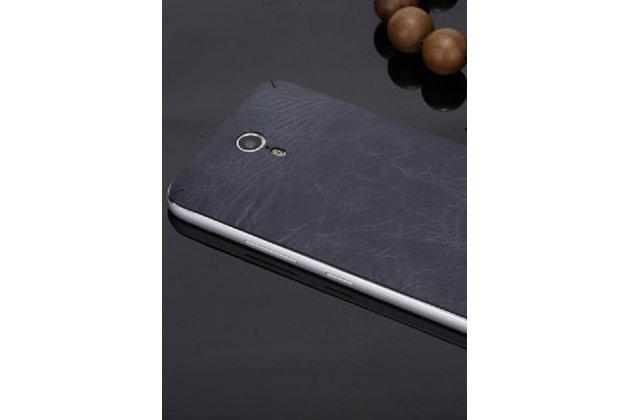 Эксклюзивная оригинальная кожаная задняя крышка (взамен родной)  для Lenovo Zuk Edge синяя