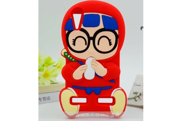 """Фирменная задняя панель-чехол-накладка с объёмным 3D изображением для Lenovo A6000/ A6010 Plus """"тематика веселая Бабка в очках"""" красная"""