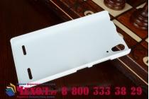 Фирменная задняя панель-крышка-накладка из тончайшего и прочного пластика для Lenovo A6000/ A6010 Plus белая