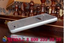 Фирменная металлическая задняя панель-крышка-накладка из тончайшего облегченного авиационного алюминия для Lenovo A6000/ A6010 Plus серебристая
