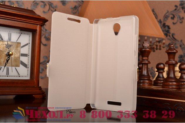 Фирменный чехол-книжка с безумно красивым расписным эклектичным узором на Lenovo A5000