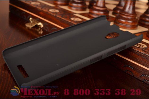 Фирменная задняя панель-крышка-накладка из тончайшего и прочного пластика для Lenovo A5000 черная