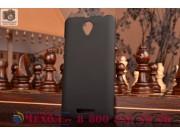 Фирменная задняя панель-крышка-накладка из тончайшего и прочного пластика для Lenovo A5000 черная..