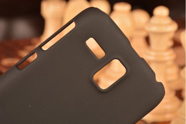 Фирменная задняя панель-крышка-накладка из тончайшего и прочного пластика для Lenovo A806 (A8) черная