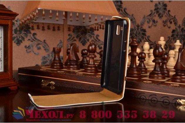 """Фирменный вертикальный откидной чехол-флип для Lenovo A806 (A8)  """"тематика Сова"""""""
