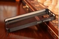 Фирменная металлическая задняя панель-крышка-накладка из тончайшего облегченного авиационного алюминия для Lenovo A806 (A8) черная