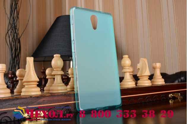 """Фирменная ультра-тонкая силиконовая задняя панель-чехол-накладка для Lenovo Phab 2 PB2-650M 6.4"""" голубая"""