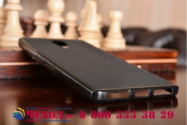 """Фирменная ультра-тонкая силиконовая задняя панель-чехол-накладка для Lenovo Phab 2 PB2-650M 6.4"""" черная"""