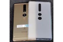 """Фирменная ультра-тонкая силиконовая задняя панель-чехол-накладка для Lenovo Phab 2 Pro PB2-690N 6.4"""" белая"""