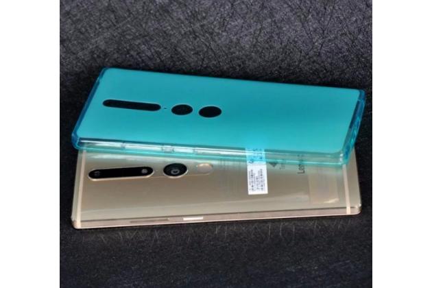 """Фирменная ультра-тонкая силиконовая задняя панель-чехол-накладка для Lenovo Phab 2 Pro PB2-690N 6.4"""" голубая"""