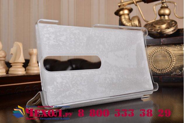 """Фирменный умный чехол-книжка самый тонкий в мире для Lenovo Phab 2 Pro PB2-690N 6.4"""" """"Il Sottile"""" золотой пластиковый"""