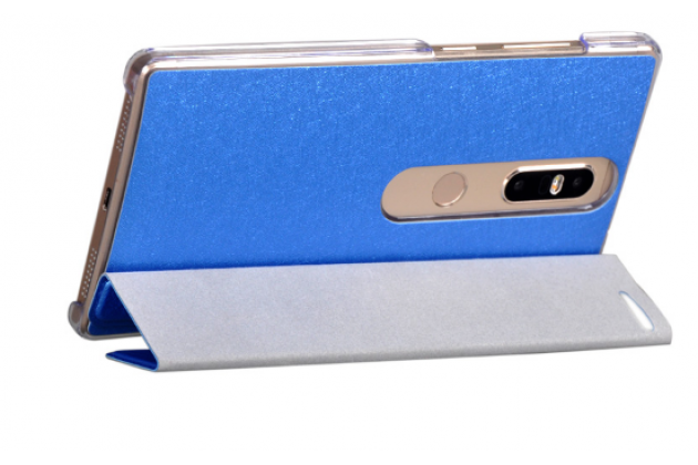 "Фирменный умный тонкий легкий чехол для Lenovo Phab 2 Pro PB2-690N 6.4"" ""Il Sottile"" синий пластиковый"