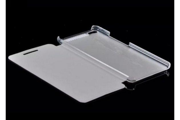 """Фирменный чехол-книжка водоотталкивающий с мульти-подставкой на жёсткой металлической основе для Lenovo Phab Plus PB1-770N/770M 6.8"""" ZA070019RU золотой"""