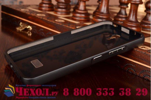 Фирменная металлическая задняя панель-крышка-накладка для Lenovo Zuk Z1 из тончайшего облегченного авиационного алюминия черная
