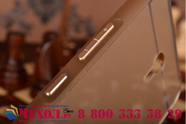 Фирменная металлическая задняя панель-крышка-накладка для Lenovo Zuk Z1 из тончайшего облегченного авиационного алюминия золотая