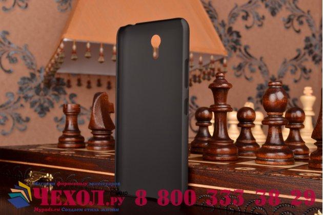 Фирменная задняя панель-крышка-накладка из тончайшего и прочного пластика для  Lenovo Zuk Z1 черная