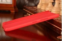 Фирменная ультра-тонкая пластиковая задняя панель-чехол-накладка для Lenovo Zuk Z1 красная