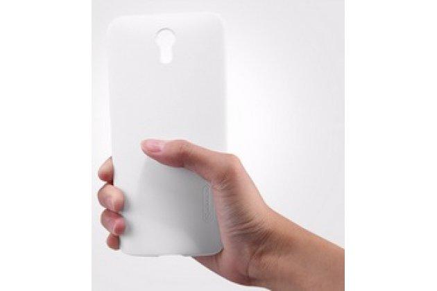 Фирменная задняя панель-крышка-накладка из тончайшего и прочного пластика для  Lenovo Zuk Z1 белая