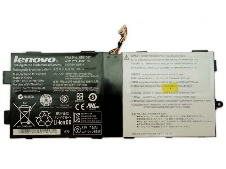 Фирменная аккумуляторная батарея  8120mAh 45N1096 на планшет Lenovo ThinkPad Tablet 2 / X220T + инструменты дл..