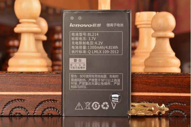 Фирменная аккумуляторная батарея BL214 1300mAh  на телефон Lenovo A208t A218t A269i A305E+ гарантия
