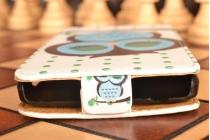 """Фирменный вертикальный откидной чехол-флип для  Lenovo A5000 5.0""""  """"тематика Сова"""""""