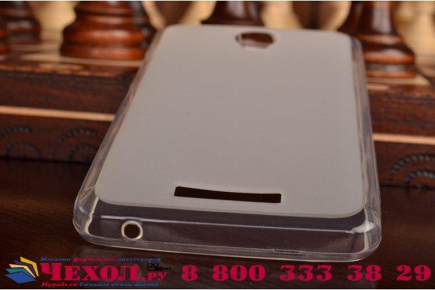 Фирменная ультра-тонкая полимерная из мягкого качественного силикона задняя панель-чехол-накладка для Lenovo A5000 белая