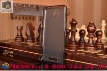 Фирменная ультра-тонкая полимерная из мягкого качественного силикона задняя панель-чехол-накладка для Lenovo A5000 черная