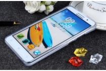 """Фирменная ультра-тонкая полимерная из мягкого качественного силикона задняя панель-чехол-накладка для Lenovo A616 5.5"""" белая"""