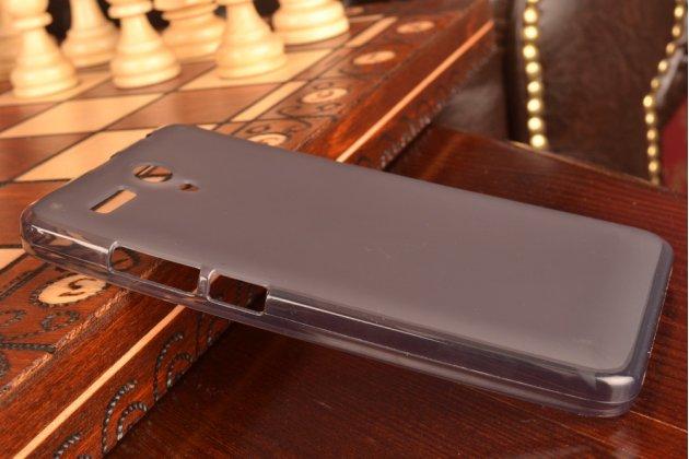 """Фирменная ультра-тонкая полимерная из мягкого качественного силикона задняя панель-чехол-накладка для Lenovo A616 5.5"""" черная"""