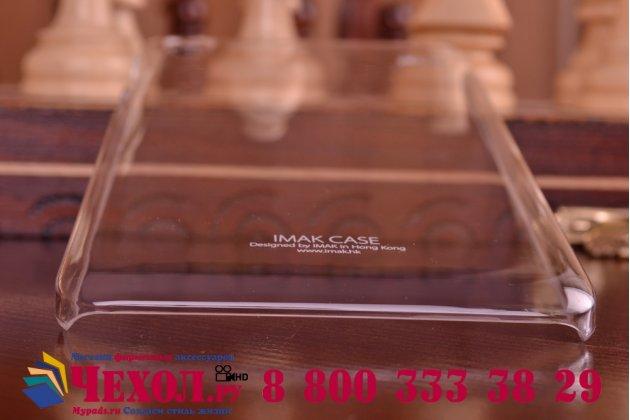 Фирменная ультра-тонкая пластиковая задняя панель-чехол-накладка для Lenovo A936 прозрачная