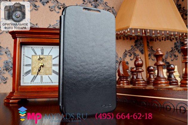 Чехол-книжка из качественной импортной кожи для Lenovo IdeaPhone S920 черный кожаный